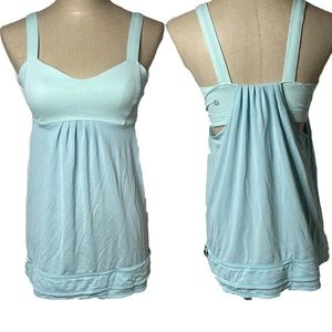 Lululemon back on track tank top in baby blue